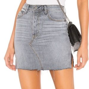 GRLFRND Denim Blaire Skirt NWT